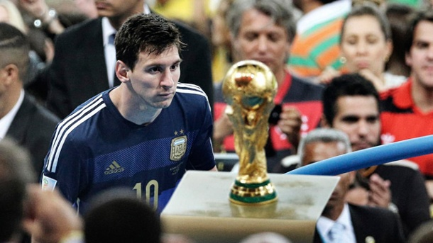 ลิโอเนล เมสซี่ กับแชมป์ฟุตบอลโลก